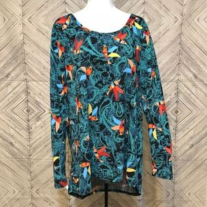 LulaRoe 2X toucan bird print tunic tropical